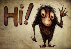 Hi! I'm Paul Stickland, I love google plus, do come and say hello! #googleplus Google Plus, Say Hello, Characters, Sign, Cool Stuff, My Love, Figurines, Signs, Board