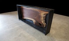 EBONIZED OAK CONSOLE WITH SILVER RUB FINISH. VARIOUS FINISHES AVAILABLE