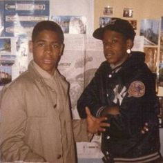 Young Jay Z with friend.