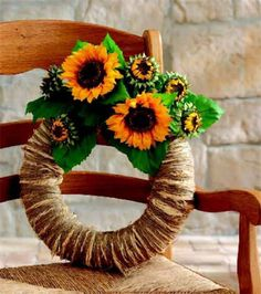 Raffia Sunflower Wreath | DIY Fall Wreath from @joannstores