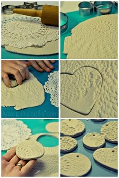 Idee di Bomboniere per il tuo Matrimonio by DIY Handmade & Craft Ideas, would be great Christmas tree decorations. Found on website: DIY Handmade & Craft Ideas, would be great Christmas tree decorations. Clay Projects, Diy Projects To Try, Handmade Christmas, Christmas Crafts, Christmas Tree, Christmas Ornaments, White Christmas, Handmade Crafts, Diy Crafts