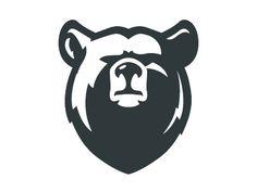 Bear designed by Shmart Studio. Connect with them on Dribbble; Bear Design, Animal Design, Art D'ours, Logo Animal, Bear Animal, Inspiration Logo Design, Bear Tattoos, Art Diy, Bear Logo