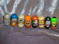 Lot Of 8 Mighty Beanz Various Monster Beans Pumpkin Head Gargoyle Troll Vampire $0.99