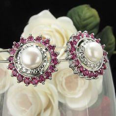 Purple Amethyst Fresh Water Pearl Stud Earrings