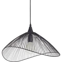 suspension__e27_design_kasteli_metal_noir_1_x_40_w_seynave Luminaire Leroy Merlin, Wire Pendant, Led Chandelier, Houzz, Rattan, Garden Tools, Sweet Home, Art Deco, Ceiling Lights