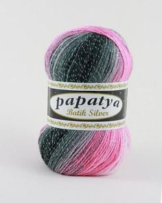 Papatya Batik Silver 555-21 Glitz And Glam, Wool Yarn, Fur Slides, Beanie, Metallic, Silver, Sandals, Yarns, Color