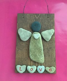 Love Angel - Lake Michigan beach rock Angel This one-of-a-kind Angel brings the message of Love. Sea Glass Crafts, Sea Glass Art, Shell Crafts, Stone Crafts, Rock Crafts, Lake Michigan, Pebble Art, Pebble Stone, Cottage Art