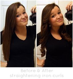 MrsStephanieT: How to curl your hair with a straightening iron!