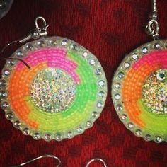Beaded Earrings, Crochet Earrings, Long Fringes, Beadwork, Neon, Patterns, Beads, Trending Outfits, Unique Jewelry