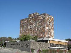 Central Library, National Autonomous University of Mexico, Mexico City.