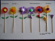Bricolage pour la fête des mères (par les membres du Club) - Des fleurs pour maman !!