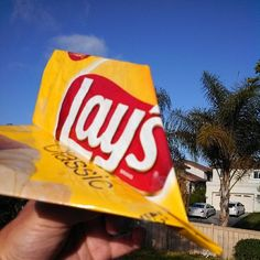 This is so creative - an airplane made out of Lay's packaging!