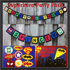 Hey, I found this really awesome Etsy listing at https://www.etsy.com/listing/194966975/superhero-party-pack-happy-birthday