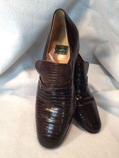 7f0d276f7c3 Mens Moda Ballin Vintage Reptile Shoes Size Leather Sole Slip On Oxford