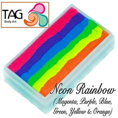 TAG Face Paint 1-Stroke Split Cake - Rainbow Neon (30g) T…