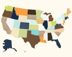 us map etsy shop comes in diff sizes and colors!