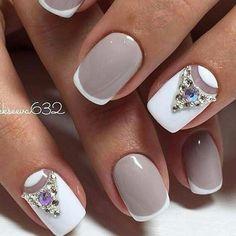 Gentle prom nails, Graduation nails, Modern nails, Prom french, Prom gel nails, Prom nails, Prom nails ideas, Prom shellac nails