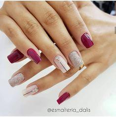Grey Nail Designs, Fall Nail Art Designs, Bright Red Nails, Animal Nail Art, Short Nails Art, Dry Nails, Manicure E Pedicure, White Nails, Beauty Nails