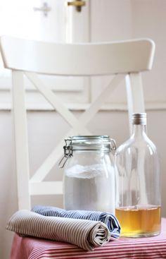 Najděte si nějakou hezkou prázdnou skleněnou láhev a nalijte do ní ocet a vodu. Přidejte 15 kapek esence dle vašeho...