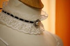 century Victorian Lace necklace fabric choker by JoolaDesigns Victorian Lace, Vintage Lace, Vintage Style, Retro Style, Lace Necklace, Collar Necklace, Lace Collar, White Collar, Neck Choker