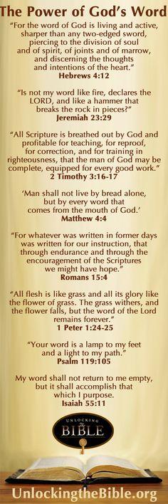 http://www.unlockingthebible.org/  Bible Verses describing the Power of God's Word
