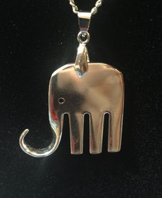 Fork Elephant Elefork Necklace by TwiceTreasuredDesign on Etsy, $35.00