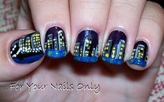 New York Skyline.... that is sooooo cool..... #nailart