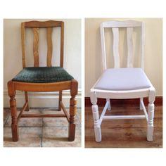 Before and After Vintage Chair Everything Has A Story - Vintage & Upcycled