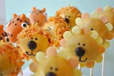 I made, these were for a baby shower with the animals on the invite… I really love the coconut lions the best!