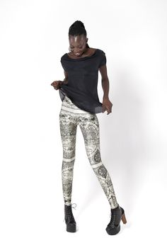 These are I think the coolest leggings I've ever seen. Ancient Maps Leggings.