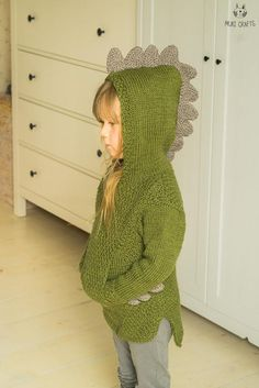 This is knitting pattern for hooded sweater Rex. Knitted with medium weight yarn., This is knitting pattern for hooded sweater Rex. Knitted with medium weight yarn and seamed from the sides. The hooded sweater has a big hidden pocket. Knitting For Kids, Crochet For Kids, Knitting Projects, Baby Knitting, Crochet Baby, Diy Crochet, Knitting Ideas, Sweater Knitting Patterns, Knit Patterns