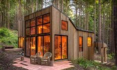 A Cabin In The Redwood Forest