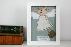 Weiteres - Schutzengel personalisiert Name Wunsch Bild Engel - ein Designerstück von suedkind-shop bei DaWanda