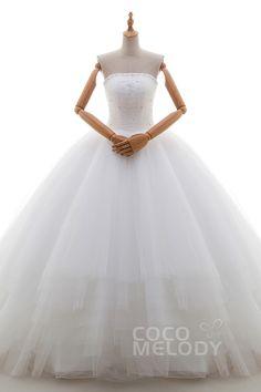 211911103 サテン チュール ビスチェ ウエディングドレス