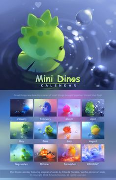 Mini Dinos Calendar by Apofiss.deviantart.com