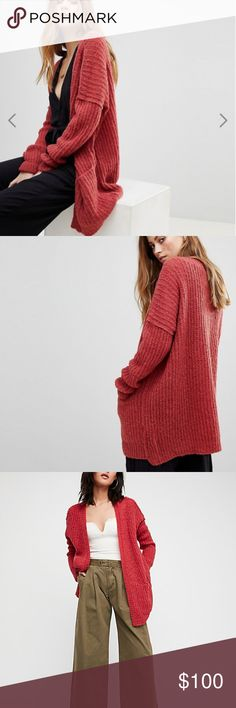 Free People Boy Friend Weekend Getaway Cardi l Color: The actual color is a little more faded/washed color than pictures posted.  Description:  Super soft and cozy loose knit cardi featured in an oversized silhouette.      Exposed seam detailing     Front slip pockets     Light weight  Details:      Dry Clean Free People Sweaters Cardigans