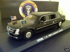 ALL NEW 1:43 2009 CADILLAC DTS PRESIDENTIAL LIMO OBAMA