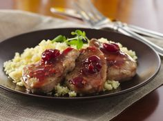 Easy entrées like this pork tenderloin draped with cherry sauce make entertaining a pleasure. But it's so quick to make, you can serve it to your family even on a busy weeknight.