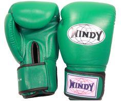 Green Windy Muay Thai Boxing Gloves