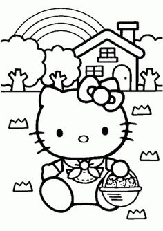 Find This Pin And More On Kleurplaten Voor Kinderen Baby Hello Kitty Coloring Pages