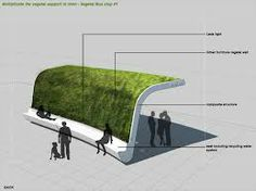 vertical gardening could incorporate fish water to sustain plants & both to sustain you. Plants clean fish water returning re oxygenated & clean to sustain fish. All it requires is management as we are supposed to do with creation. Sustainable City, Sustainable Architecture, Sustainable Design, Bus Stop Design, Green Architecture, Architecture Portfolio, Architecture Sketchbook, Victorian Architecture, Pavilion Architecture
