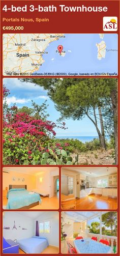 Townhouse for Sale in Portals Nous, Spain with 4 bedrooms, 3 bathrooms - A Spanish Life Murcia, Valencia, Barcelona, Living Area, Townhouse, Portal, Terrace, Spanish, Bathroom