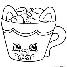 Print Cherry Nice Cupcake from shopkins season 6 coloring pages