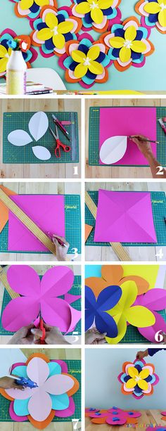How to make giant colorful paper flowers with @HobbyLobby #HobbyLobbyStyle #HobbyLobbyMade #ad | Live Colorful