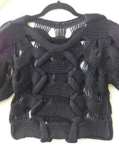 Mary Callan Knitwear tape yarn top www.facebook.com/marycallanknitwear
