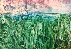 Encaustic auf Papier, 60x42 cm, ohne Rahmen Mountains, Nature, Painting, Travel, Art, Paper, Frame, Abstract, Painting Art