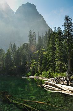 Lake Serene,Wa~~I must be a true Washingtonian: I love pictures of fog, mist, clouds...