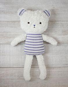 Organic Fair Trade Teddy Bear / stuffed toy, bear doll, organic baby, baby shower, boy gift, plush, stuffed animal, organic toys, soft doll
