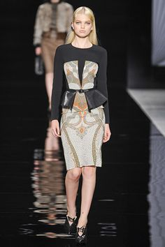 Fall Fashion Trend:The Peplum. This season's must-have waist ruffle feminizes any piece.  Etro Fall 2012. #peplum