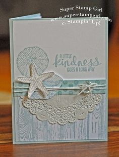 Stampin' Up!  By the Seashore, hardwood, paper doily